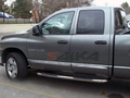 <b>02-08 Dodge RAM 1500 Quad Cab</b> 3inch Round Stainless Steel Side Step Bars