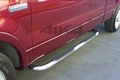 <b>04-08 Ford F150 Super Crew Cab</b> 3inch Round Stainless Steel Side Step Bars