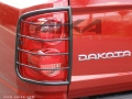 <b>05-11 Dodge Dakota</b> Black Tail Light Guards