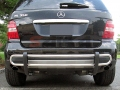 <b>06-11 Mercedes ML-Class (W164 Chassis)</b> Stainless Steel Double Tube Rear Bumper Guard