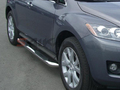 <b>07-10 Mazda CX7</b> 3inch Round Stainless Side Step Bars
