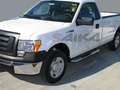 <b>09-14 Ford F150 Regular Cab</b> 3inch Round Stainless Steel Side Step Bars