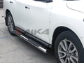 <b>13-14 Nissan Pathfinder</b> 4inch Oval Stainless Steel Side Step Bars
