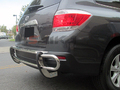 <b>01-15 Lexus RX330/RX350/RX400H/RX450H</b> Stainless Steel Double Tube  Rear Bumper Guard