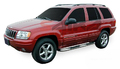 <b>99-04 Jeep Grand Cherokee</b> 3inch Round Stainless Steel Side Step Bars