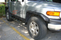 <b>07-13 Toyota FJ Cruiser</b> 3inch Round Stainless Steel Side Step Bars