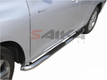 <b>08-13 Toyota Highlander</b> (Gas & Hybrid) 3inch Round Stainless Steel Side Step Bars