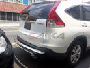 <b>07-11 Honda CRV</b> Stainless Steel Dual Layer rear Bumper Guard