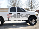 <b>05-11 Dodge Dakota Quad Cab</b> 3inch Round Black Side Step Bars