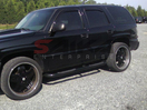 <b>01-13 Cadillac Escalade</b> Black Powder Coated 3inch Round Side Step Bars