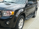 <b>081-12 Ford Escape</b> 3inch Round Black Side Step Bars