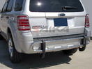 <b>08-12 Ford Escape</b> Stainless Steel Double Tube Rear Bumper Guard