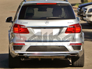 <b>13-15 Mercedes GL450 GL500 GL550</b> (X166 Chassis) Stainless Steel Double Layer Rear Bumper Guard