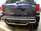<b>05-10 Jeep Grand Cherokee</b> Stainless Double Tube Rear Bumper Guard