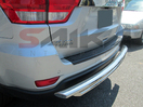 <b>11-15 Jeep Grand Cherokee</b> Stainless Steel Double Layer Rear Bumper Guard