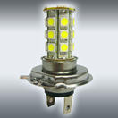 NX-H4-5-27 - H4 5050 27 SMD LED Light Bulbs - Pair (4 Colors Options) By NAXOS