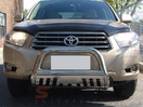 <b>08-10 Toyota Highlander</b> Stainless Steel 3in Bull Bar w/ Skid Plat