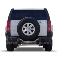 <b>06-10 Hummer H3</b> Stainless Steel Double Tube Rear Bumper Guard