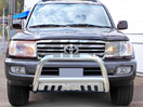 <b>98-07 Toyota Land Cruiser</b> 3inch Stainless Steel Bull Bar w/Skid Plate