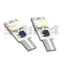 NX-194X-5-4W - 194 CANBUS 5050 4 SMD WHITE Twin Set of LED Bulbs (4 Colors Avail.) by NAXOS