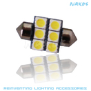 NX-FES28-5-6 - FESTOON 28MM 5050 6 SMD Twin Set of LED Bulbs (4 Colors Avail.) by NAXOS