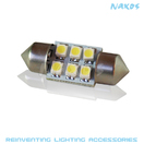 NX-FES31-1-6 - FESTOON 31MM 1210 6 SMD Twin Set of LED Bulbs (4 Colors Avail.) by NAXOS