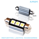 NX-FESX39-5-3 - FES39 CANBUS 5050 3 SMD Twin Set of LED Bulbs (4 Colors Avail.) by NAXOS