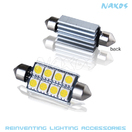 NX-FESX44-5-8 - FES44 CANBUS 5050 8 SMD Twin Set of LED Bulbs (4 Colors Avail.) by NAXOS
