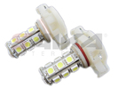 NX-H16-5-18 - H16 5050 18 SMD LED Light Bulbs - Pair (4 Color Options) By NAXOS