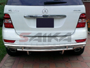 <b>06-11 Mercedes ML320 ML350 ML450 (Chassis W164)</b> Stainless Steel Double Layer Rear Bumper Guard