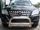 <b>06-11 Mercedes ML-Class (W164 Chassis)</b> 3inch Stainless Steel Bull Bar w/Skid Plate