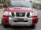 <b>08-12 Nissan Pathfinder</b> 3inch Stainless Steel Bull Bar w/Skid Plate