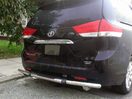 <b>04-10 Toyota Sienna</b> Stainless Steel Single Tube Rear Bumper Guard