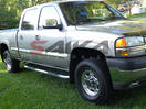 <b>01-09 GMC Sierra 2500HD/3500 Extended Cab</b> 3inch Round Stainless Steel Side Step Bars