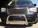 <b>08-14 Chrysler Town & Country</b> 3inch Stainless Steel Bull Bar Front w/ Skid Plate